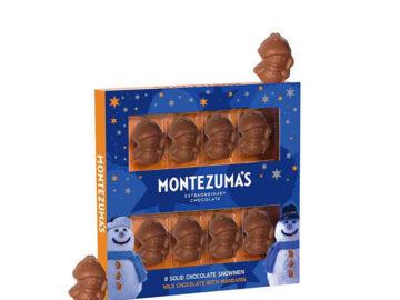 Montezuma Milk Chocolate Mandarin  Snowmen