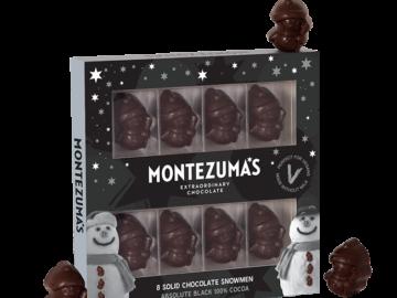 Montezuma Black Chocolate Snowmen